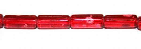 26pieces x 16mm*7mm Red colour cylinder shape bubble gum glass beads / speckled glass beads -- 3005165